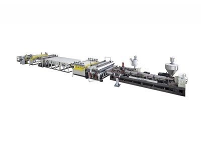 PE/PP/PC Hollow Grid Sheet Extrusion Line